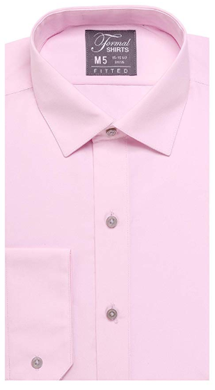 Formal Light Pink Laydown Shirt No Pleats