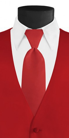 Red Long Tie